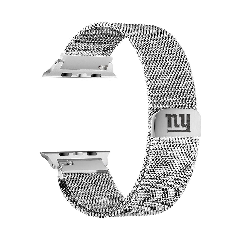 New York Giants Stainless Steel Apple Watch Band - AffinityBands
