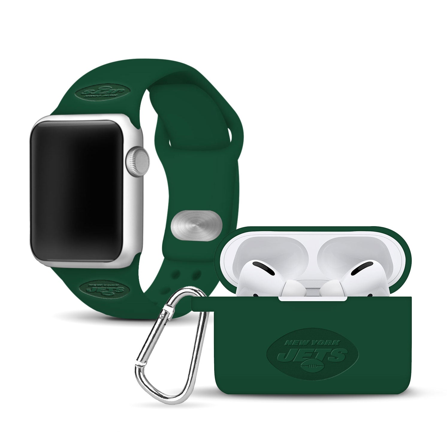 New York Jets Debossed Apple Combo Pro Package - AffinityBands