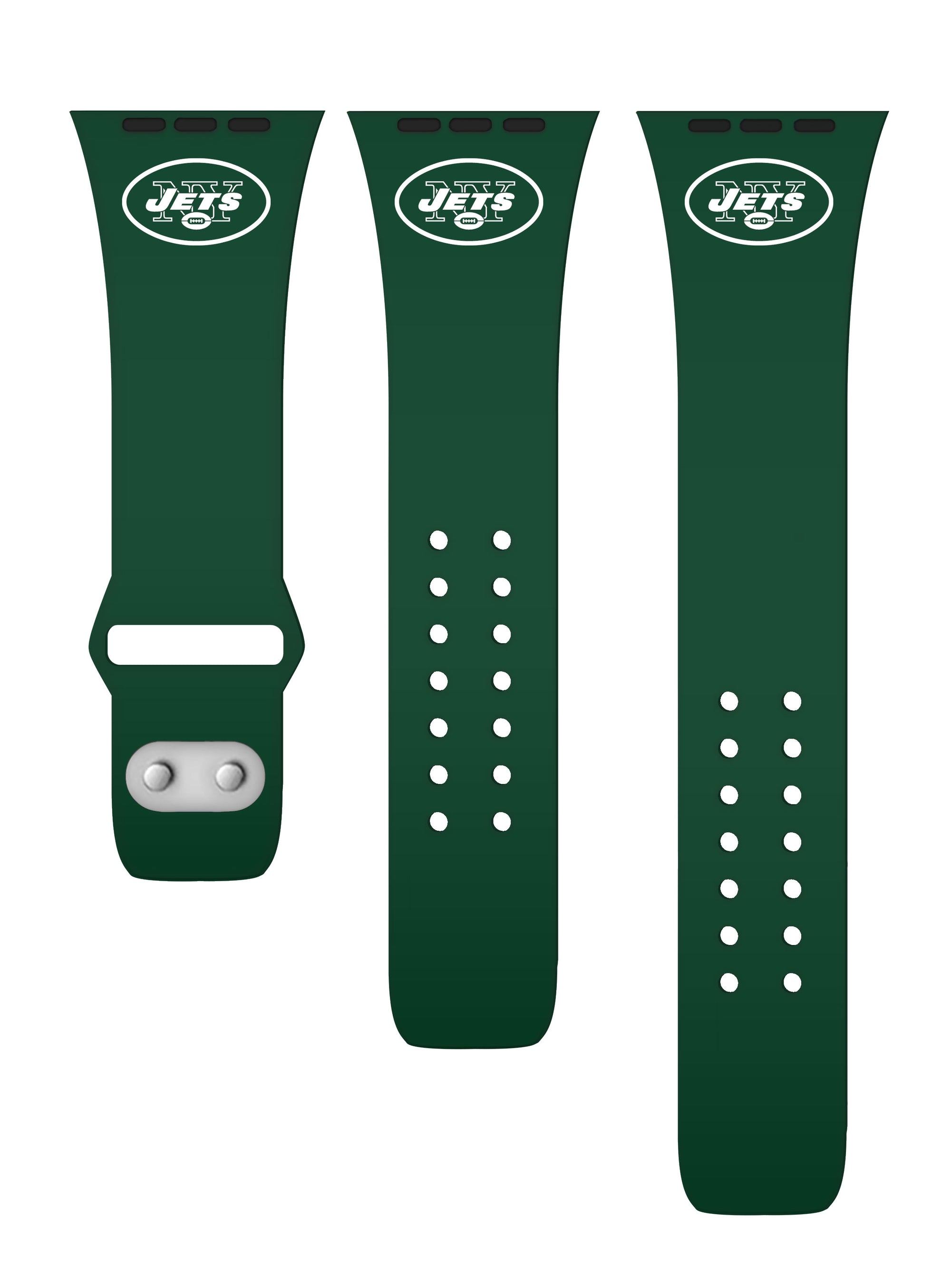 New York Jets Silicone Apple Watch Band - Classic Logo - AffinityBands