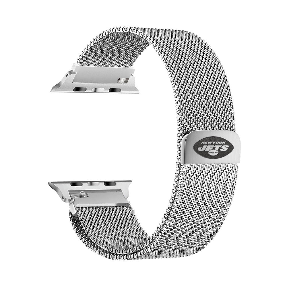 New York Jets Stainless Steel Apple Watch Band - AffinityBands