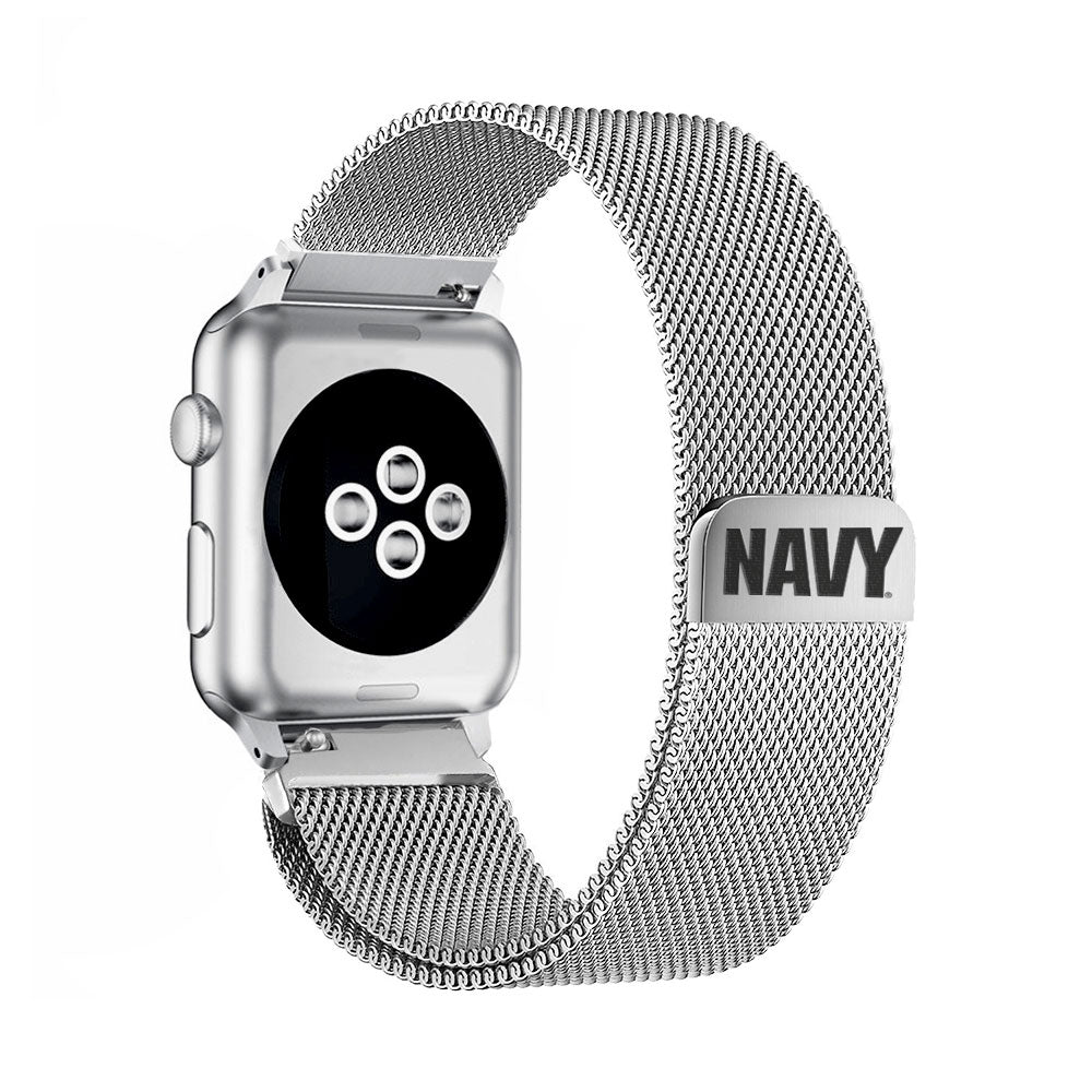 U.S. Navy Stainless Steel Apple Watch Band