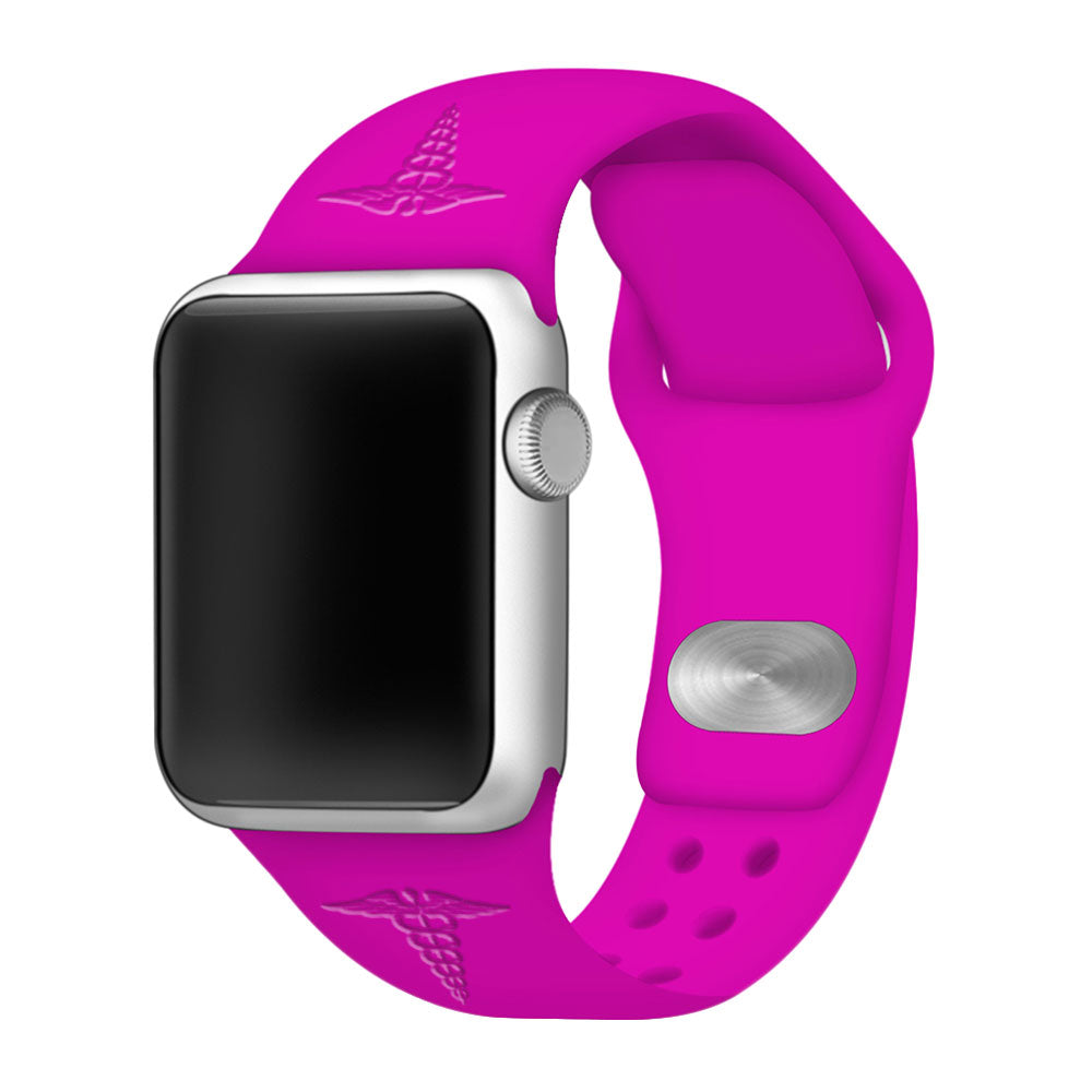 Medical Apple Watch Bands Debossed Neon - AffinityBands