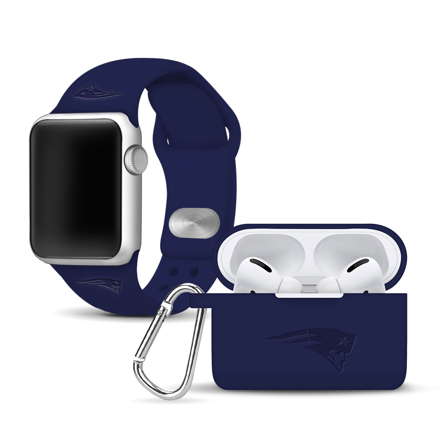 New England Patriots Debossed Apple Pro Combo Package - AffinityBands