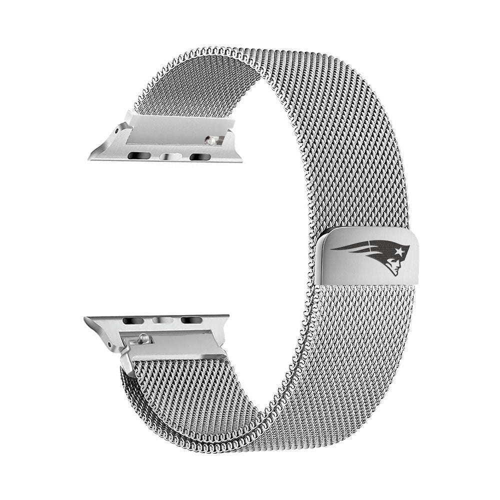 New England Patriots Stainless Steel Apple Watch Band - AffinityBands