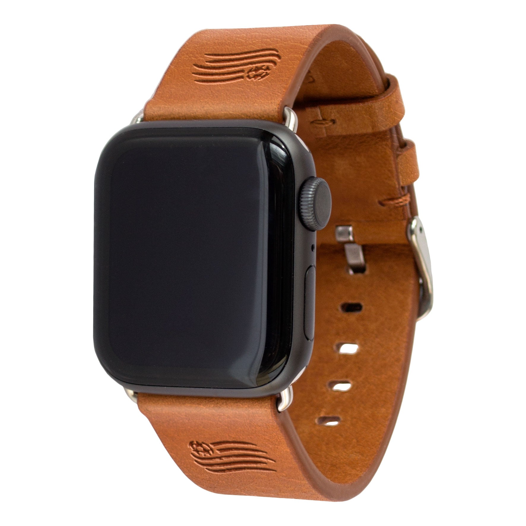 New England Revolution Leather Apple Watch Band