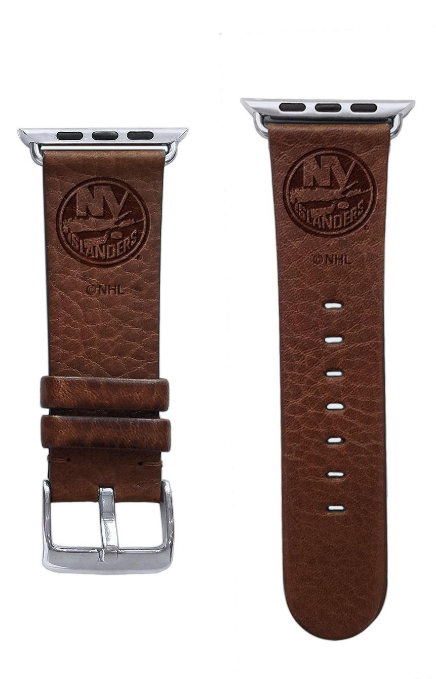 New York Islanders Leather Apple Watch Band