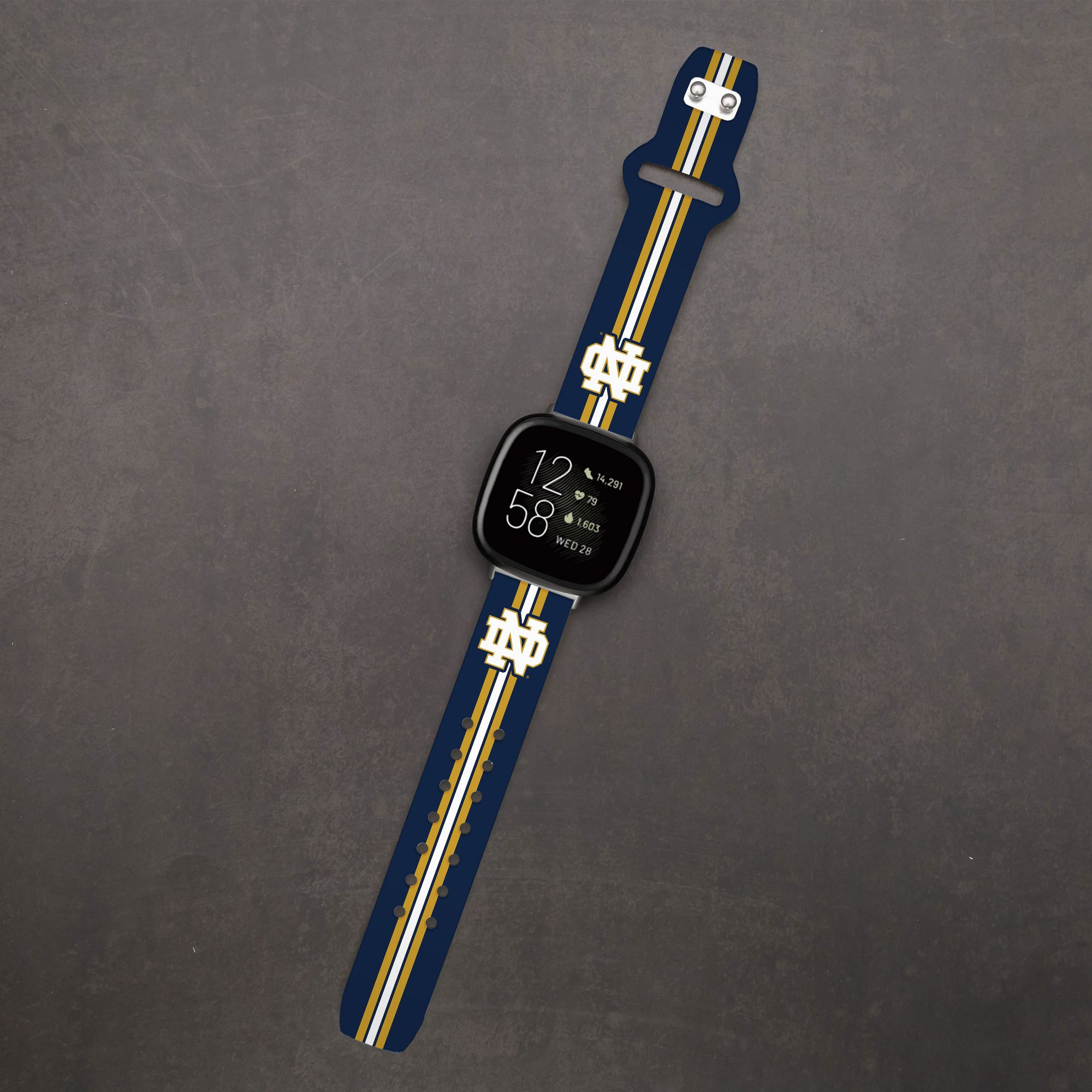 Notre Dame Fighting Irish Leather Apple Watch Band