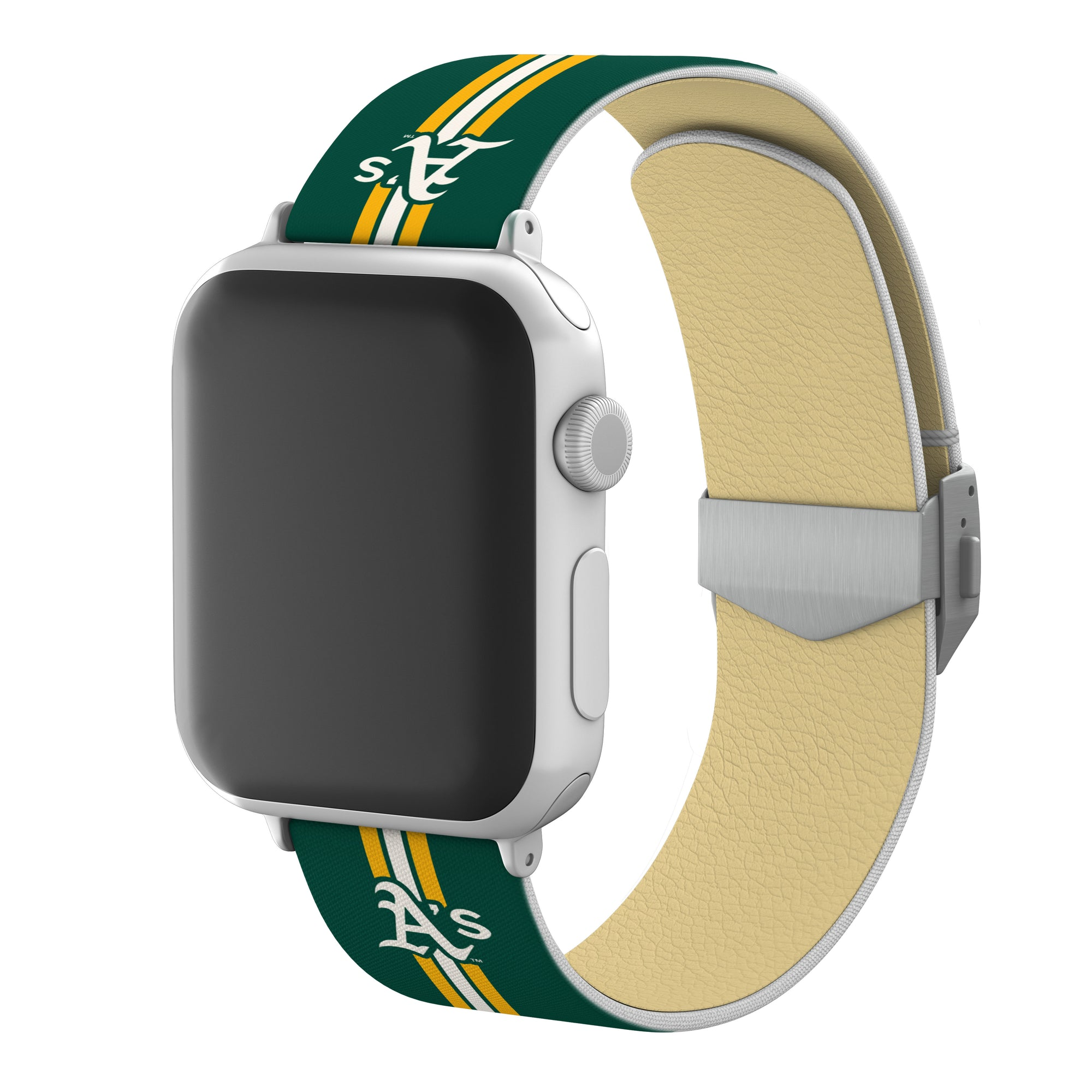 Oakland Athletics Full Print Watch Band With Engraved Buckle - AffinityBands