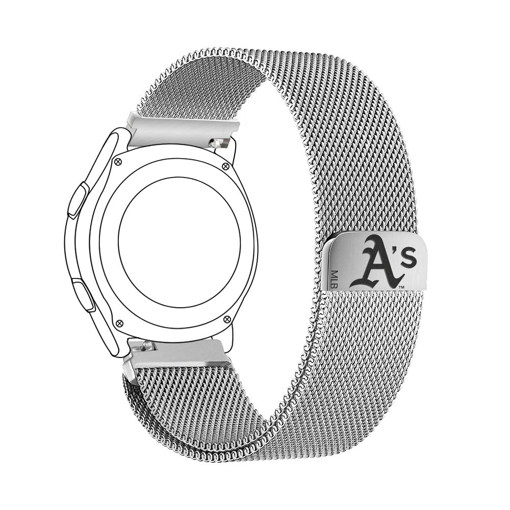 Oakland Athletics Quick Change Stainless Steel Watchband - AffinityBands