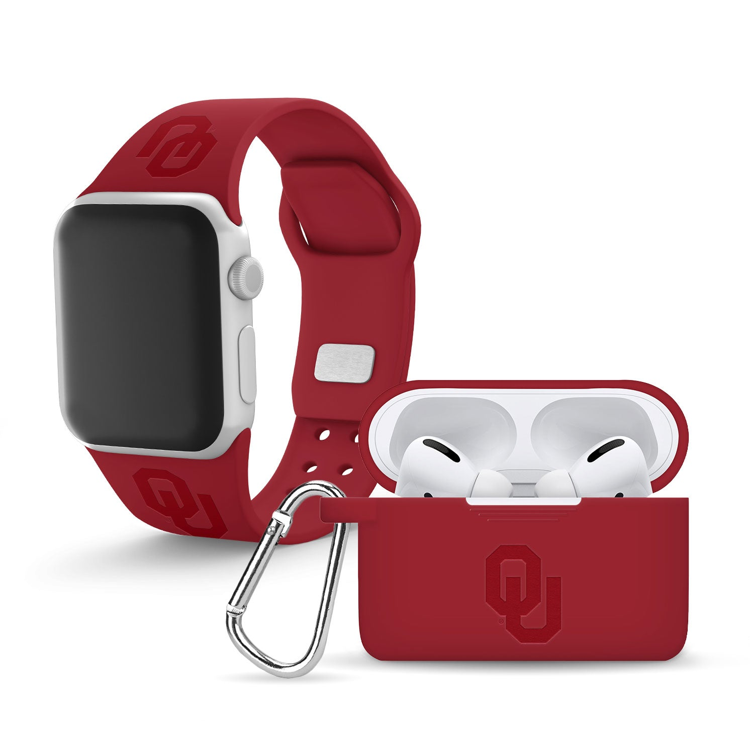 Oklahoma Sooners Debossed Apple Combo Pro Package - AffinityBands
