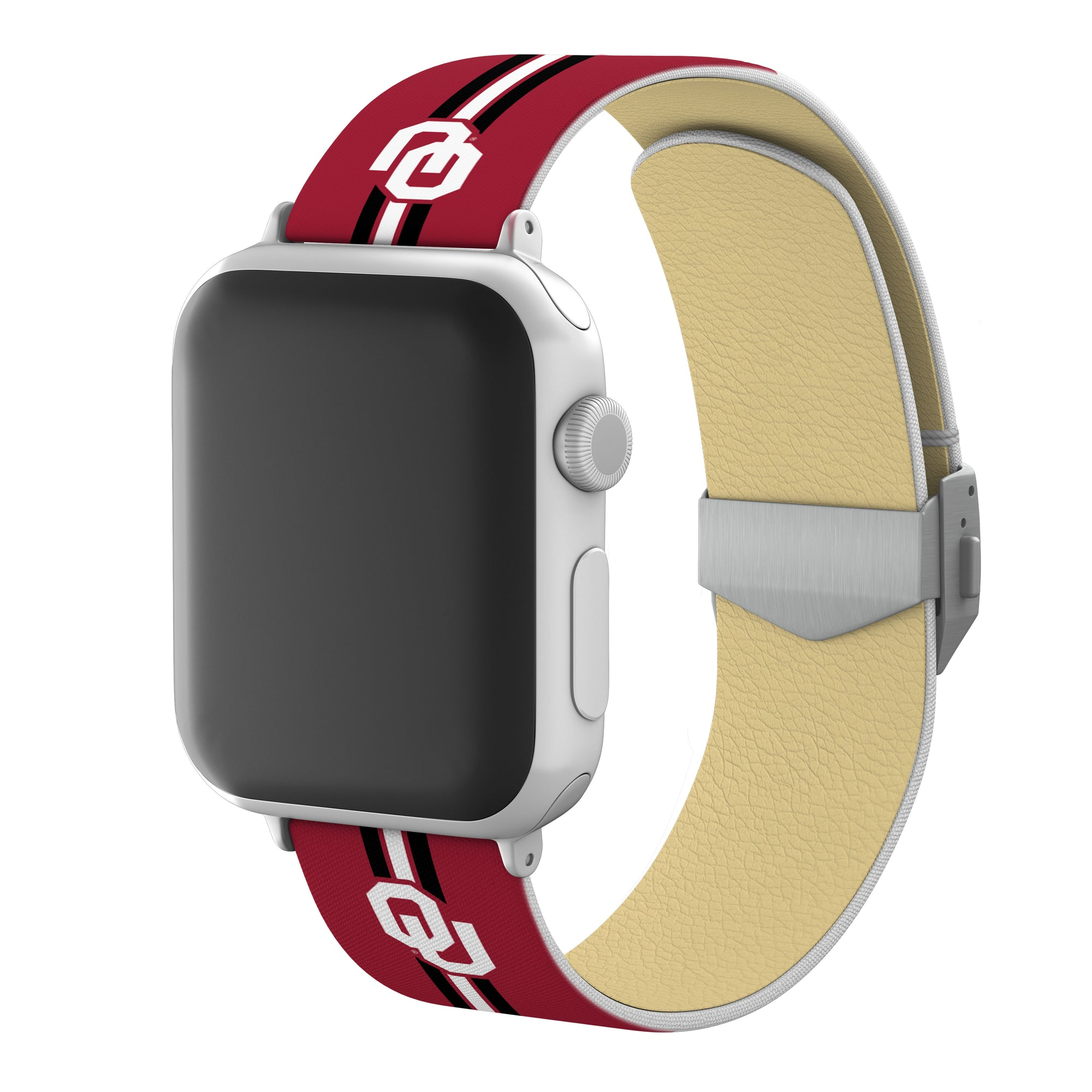 Oklahoma Sooners Full Print Watch Band With Engraved Buckle - AffinityBands