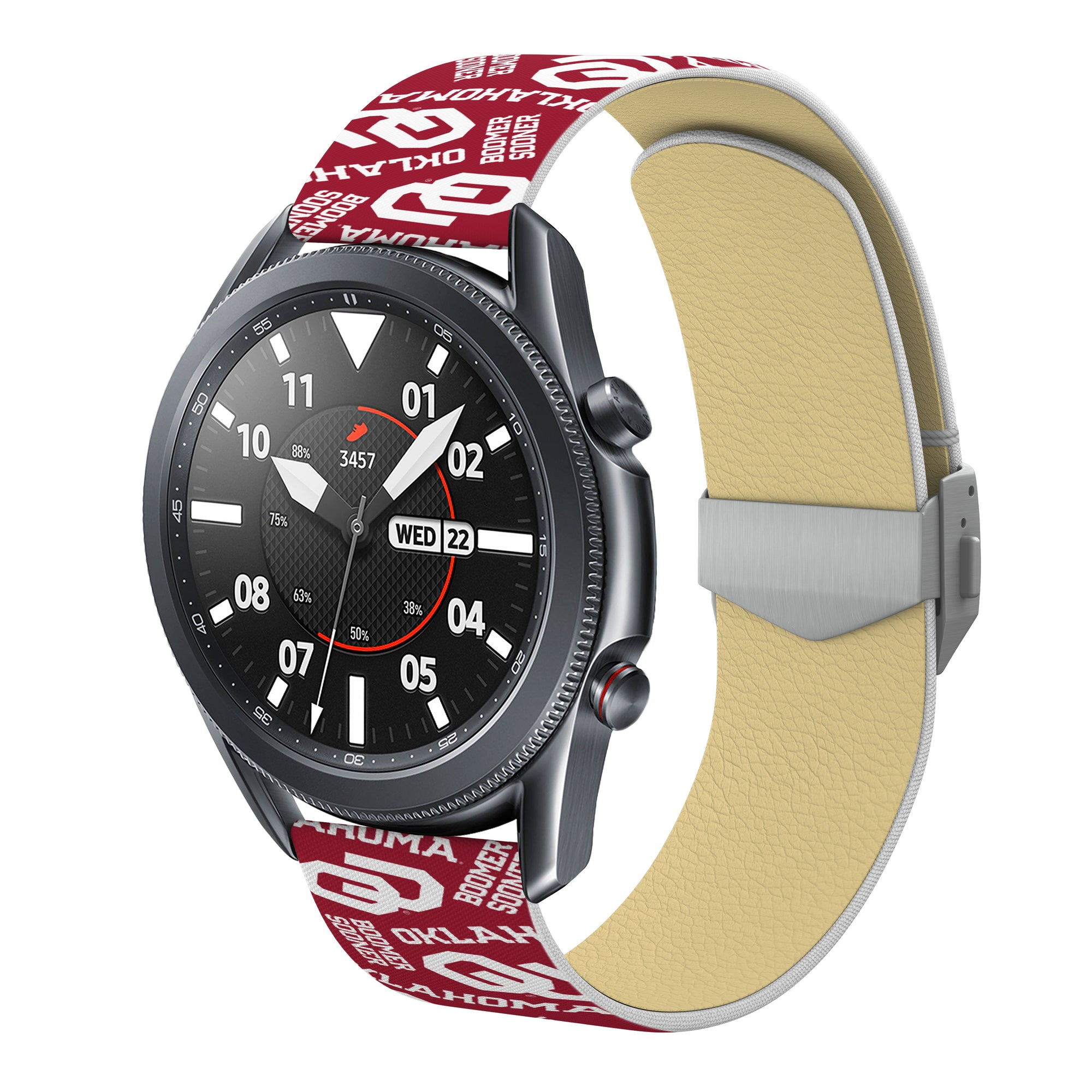 Oklahoma Sooners Full Print Quick Change Watch Band With Engraved Buckle - AffinityBands