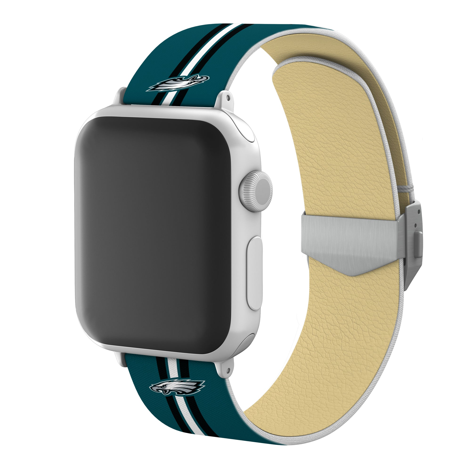 Philadelphia Eagles Full Print Watch Band With Engraved Buckle - AffinityBands