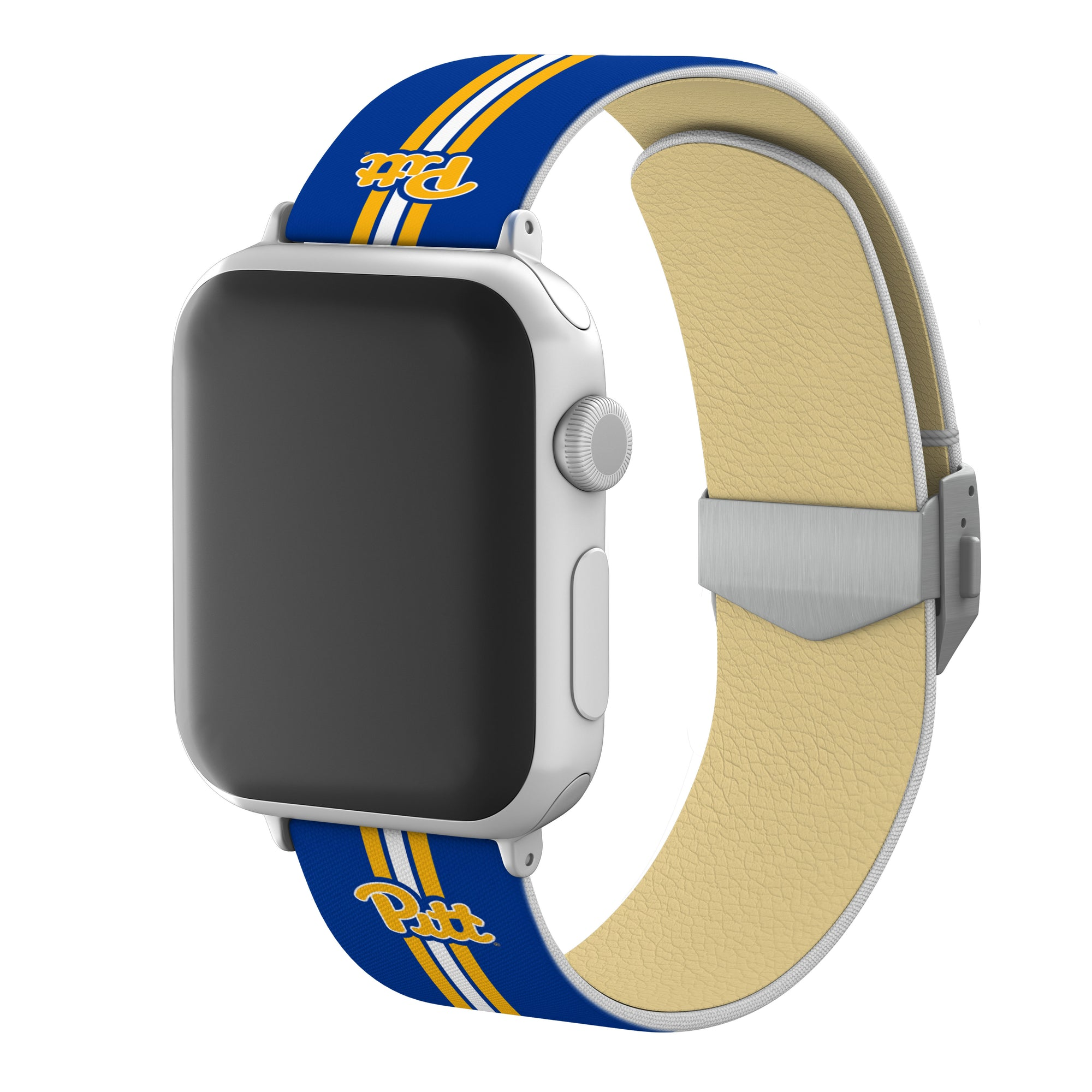 Pitt Panthers Full Print Watch Band With Engraved Buckle - AffinityBands