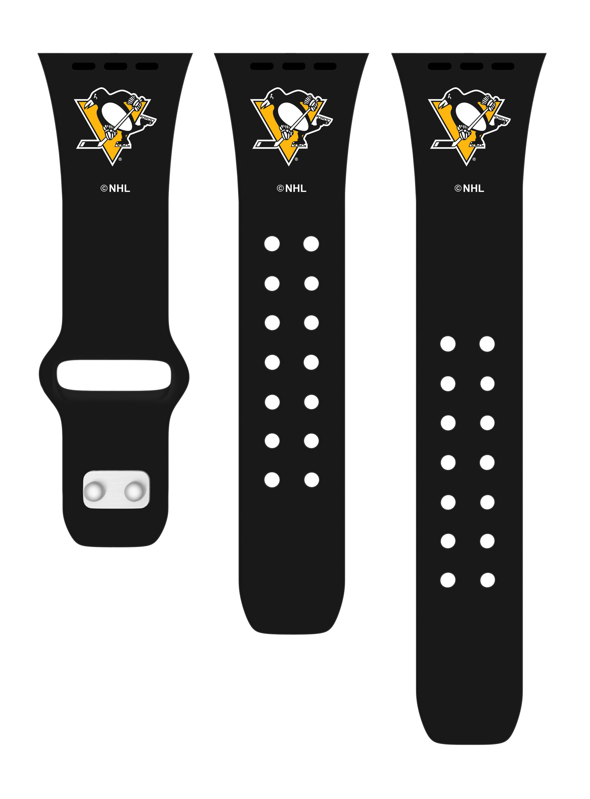 Pittsburgh Penguins Debossed Apple Watch Band-AffinityBands