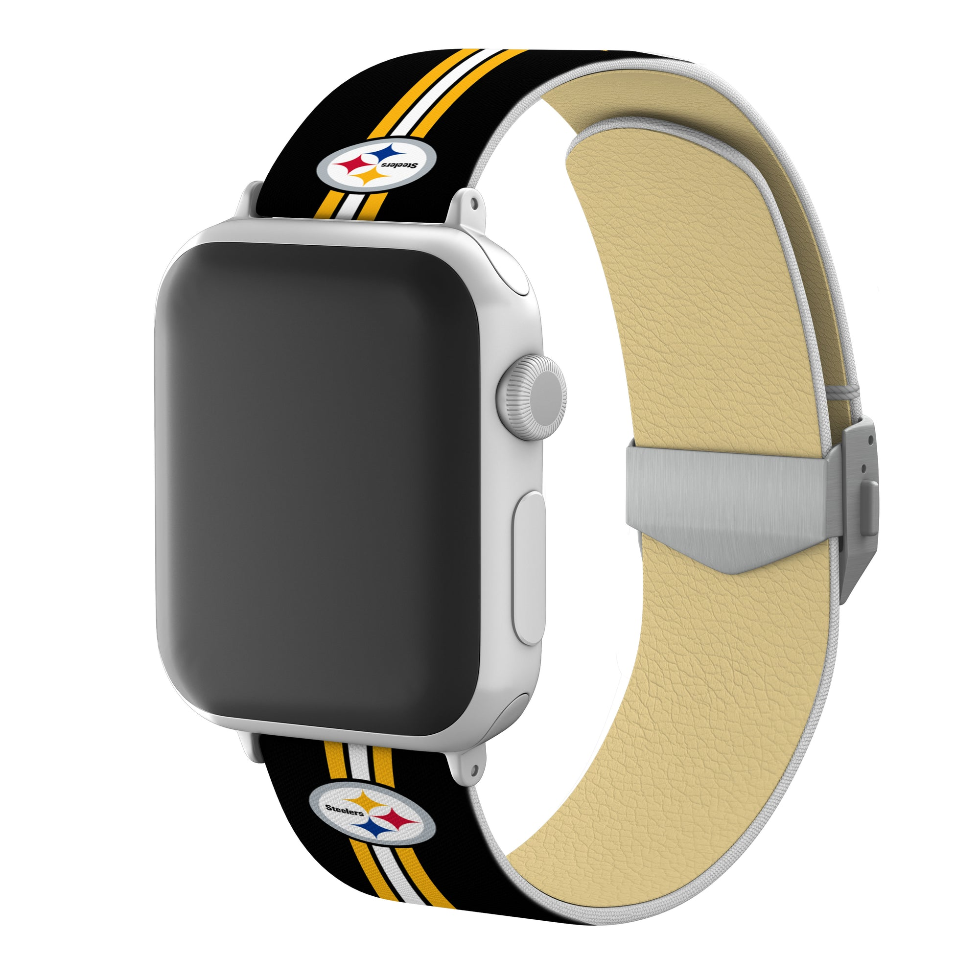 Pittsburgh Steelers Full Print Watch Band With Engraved Buckle - AffinityBands