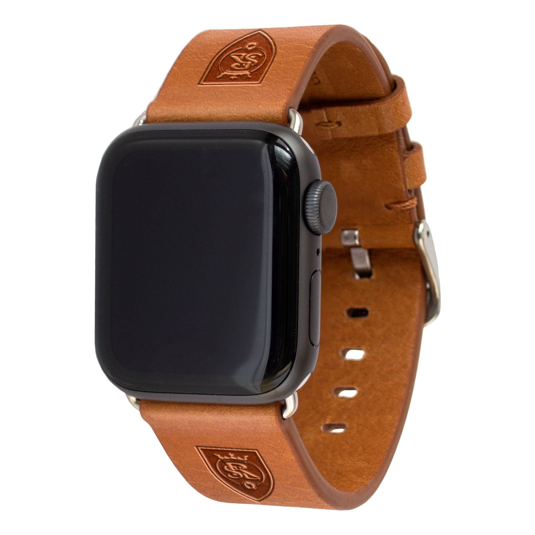 Real Salt Lake Leather Apple Watch Band