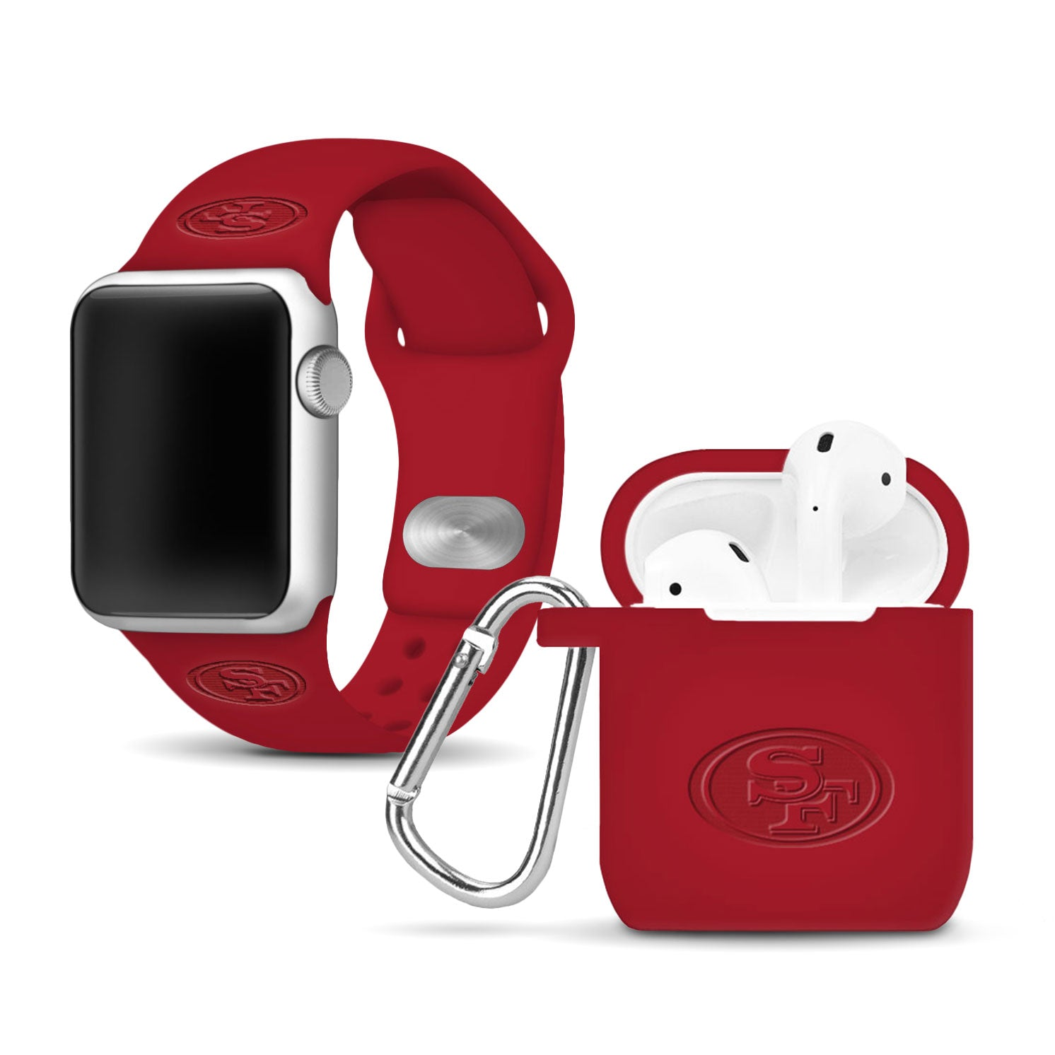San Francisco 49ers Debossed Apple Combo Package - AffinityBands