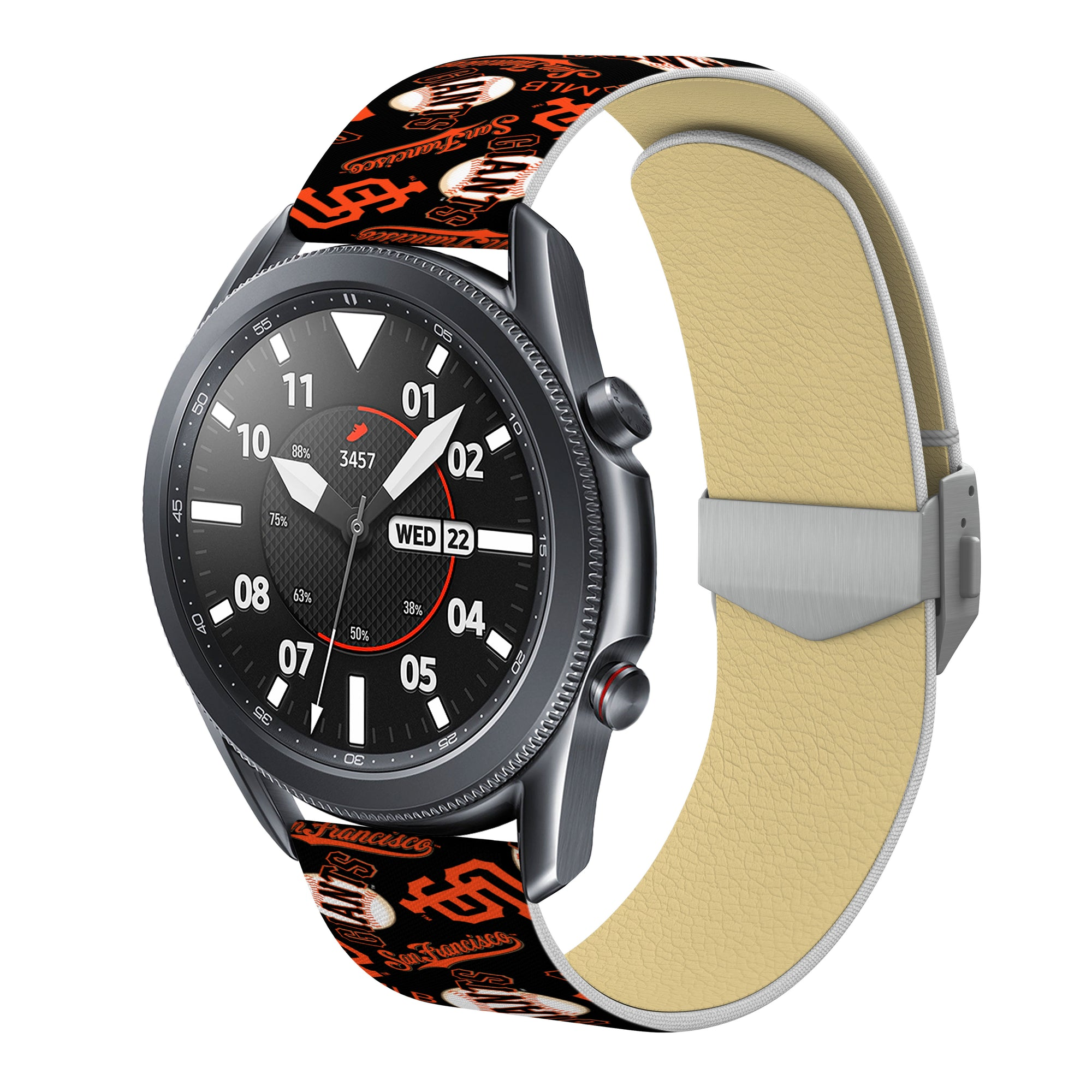 San Francisco Giants Full Print Quick Change Watch Band With Engraved Buckle - AffinityBands