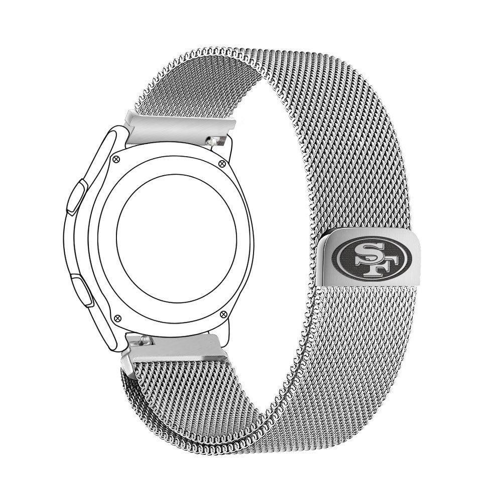 San Francisco 49ers Quick Change Stainless Steel Watch Band