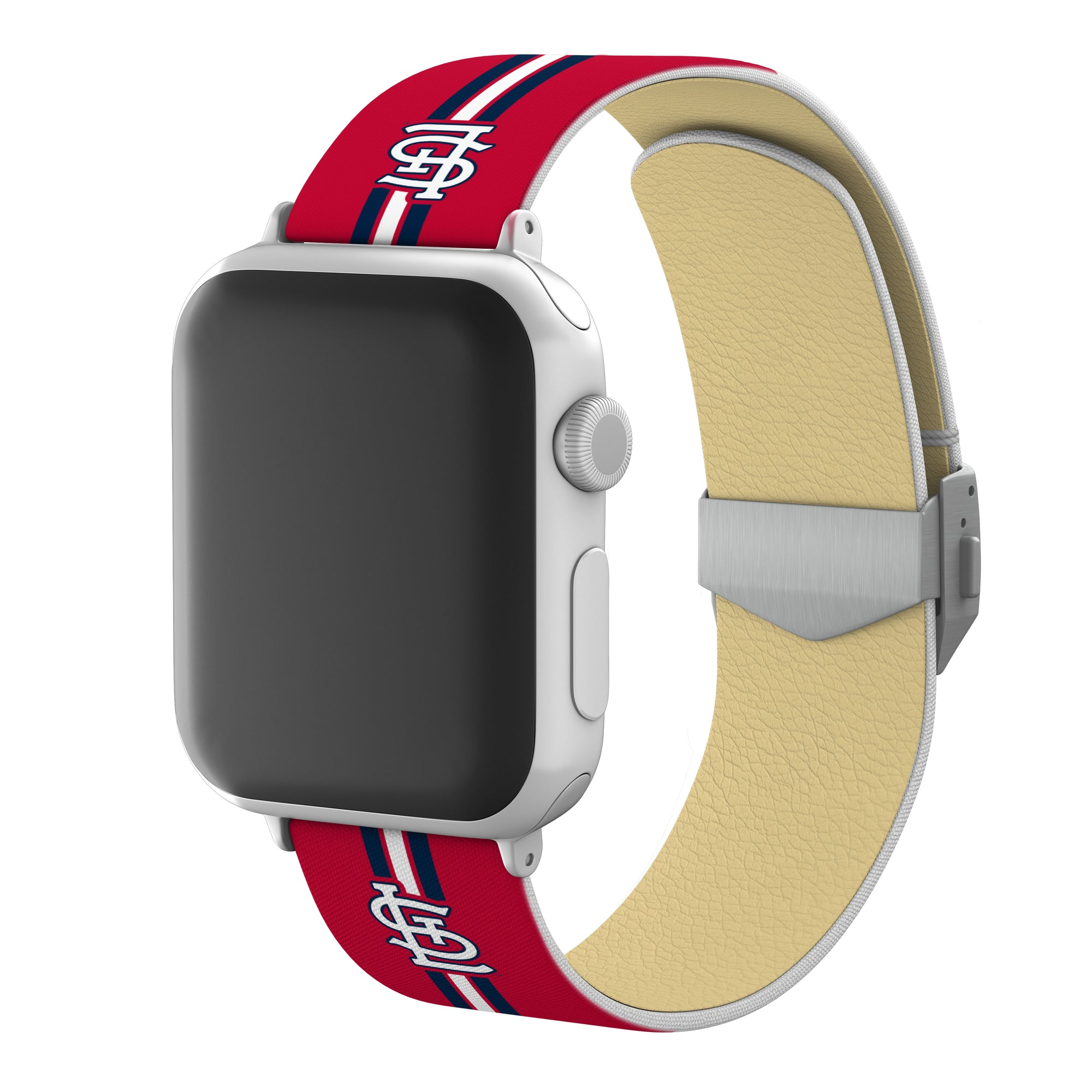 St. Louis Cardinals Full Print Watch Band With Engraved Buckle - AffinityBands
