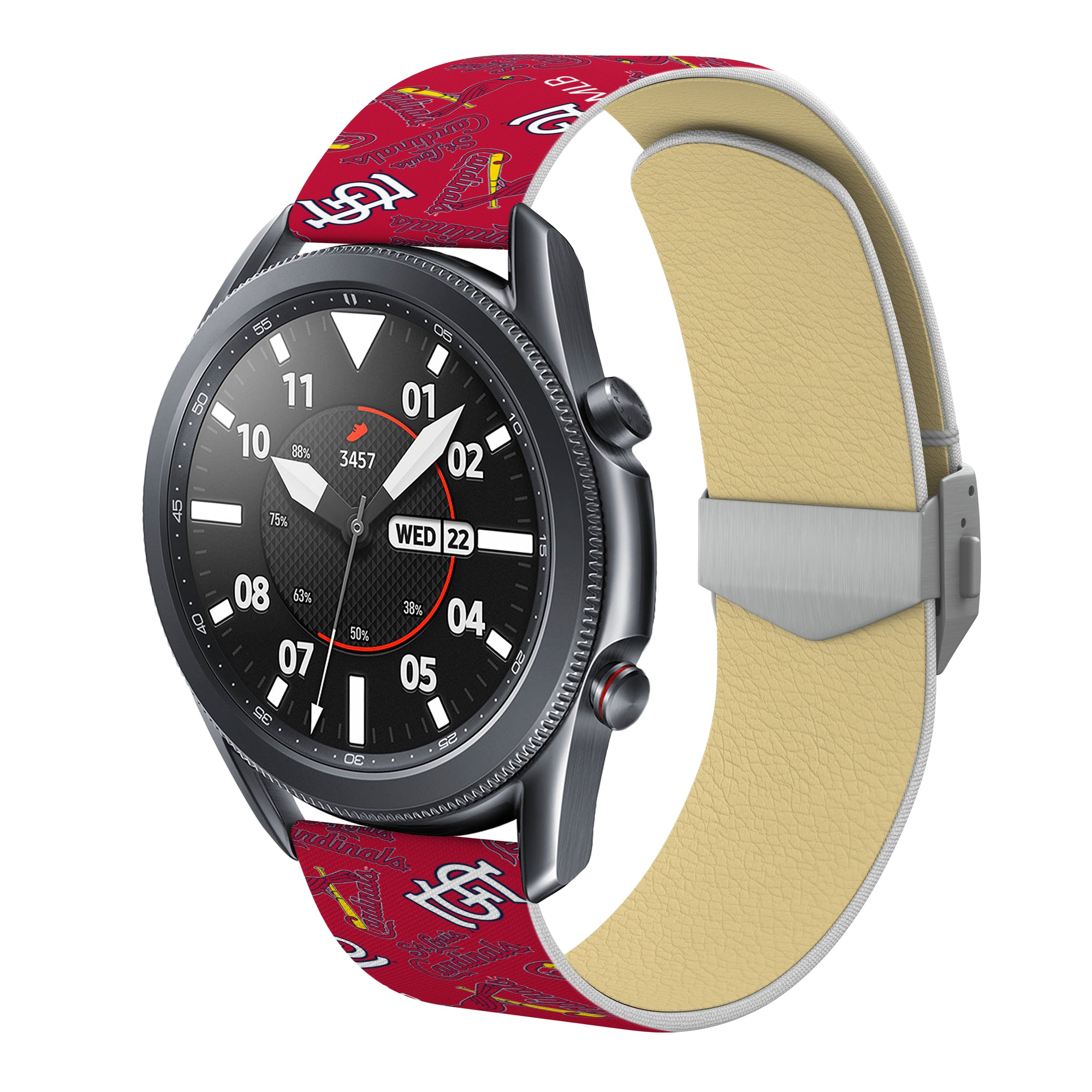 St. Louis Cardinals Full Print Quick Change Watch Band With Engraved Buckle - AffinityBands