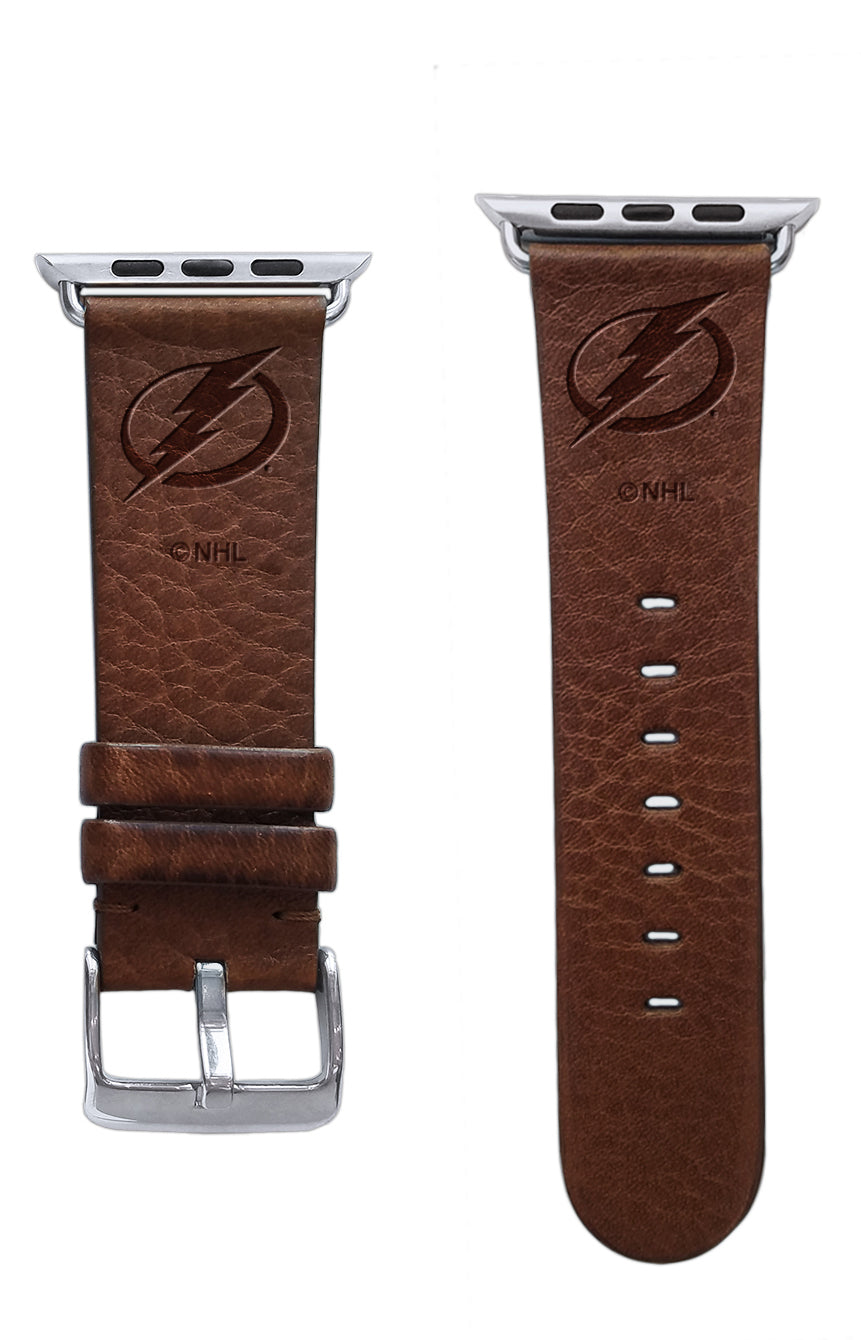 Tampa Bay Lightning Leather Apple Watch Band