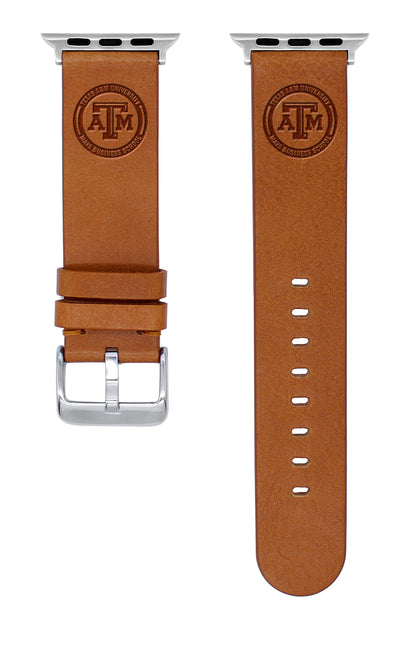 Texas A&M Aggies Quick Change Leather Watch Band - USA Sewn