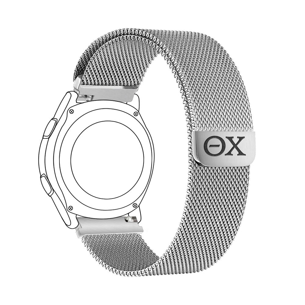 Theta Chi Quick Change Stainless Steel Watch Bands - AffinityBands