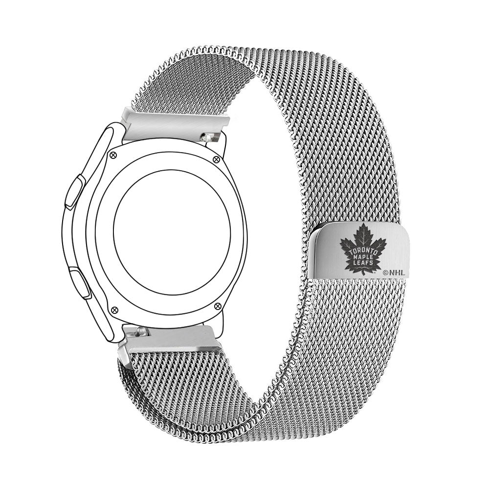 Toronto Maple Leafs Quick Change Stainless Steel Watch Band - AffinityBands