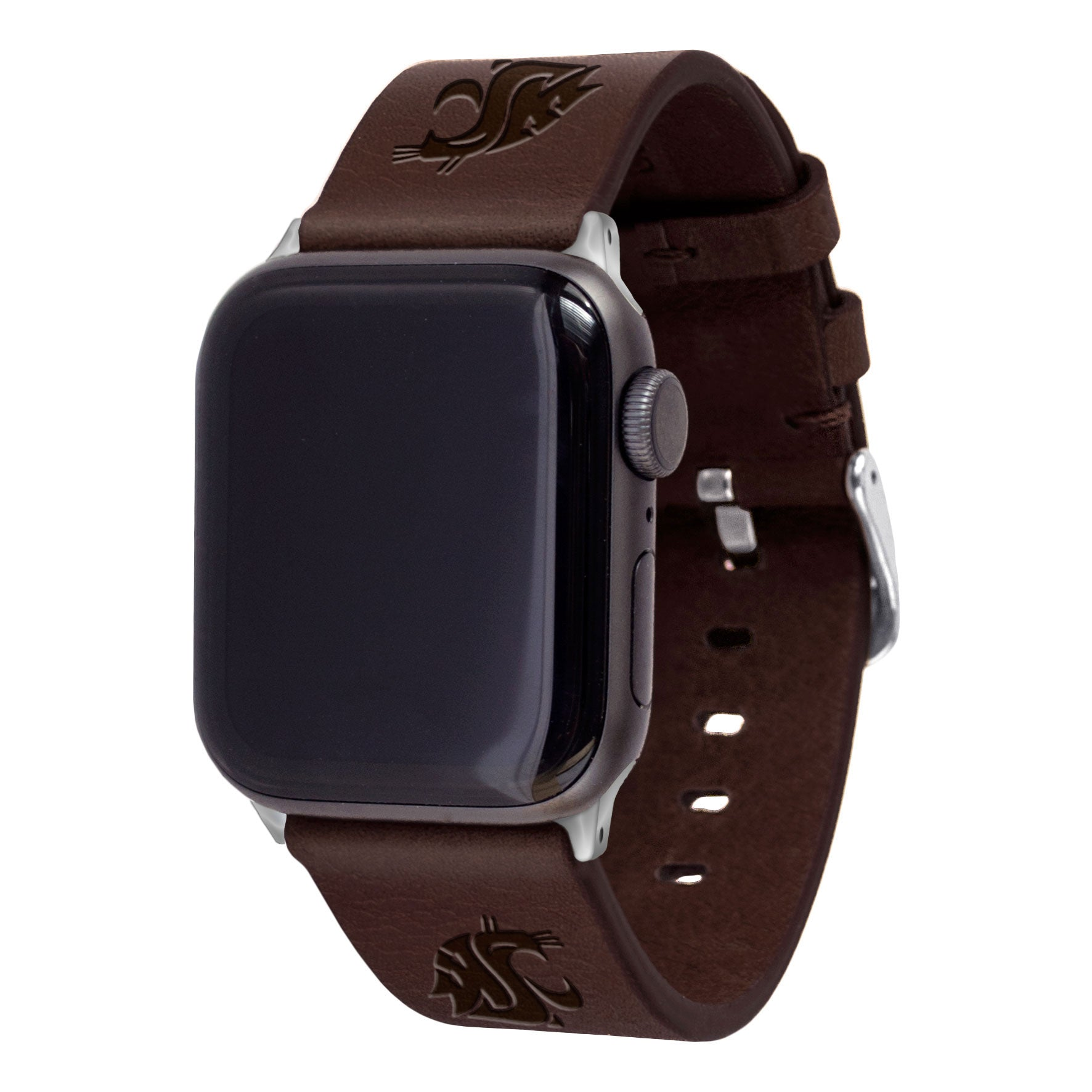 Washington State Cougars Leather Apple Watch Band - Affinity Bands