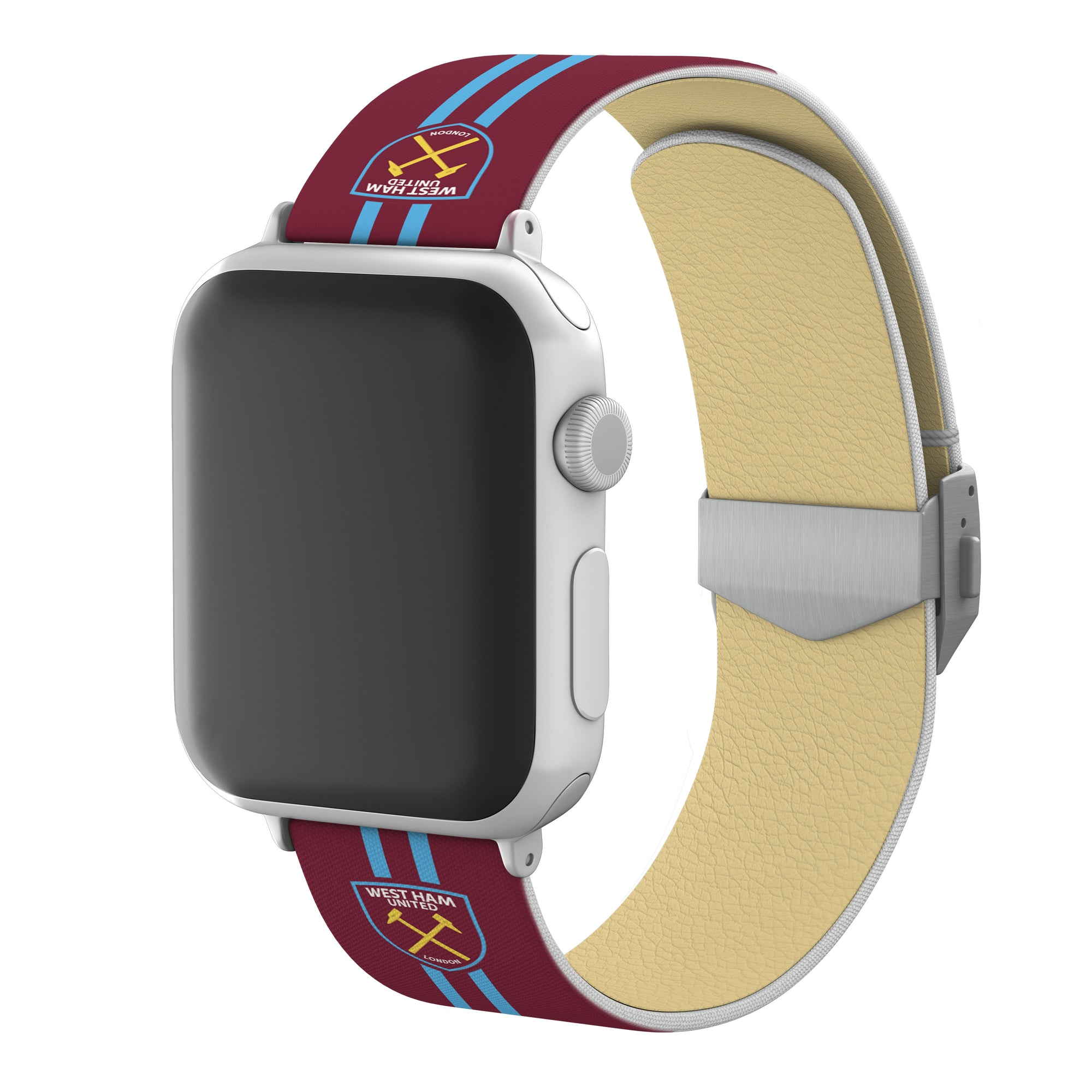 West Ham United FC Full Print Apple Watch Band With Engraved Buckle - Affinity Bands