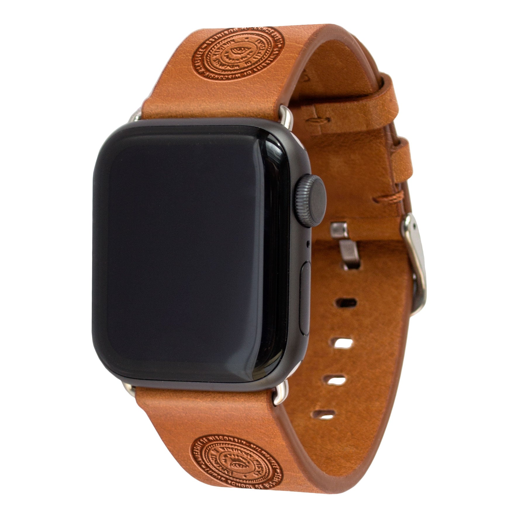 Wisconsin School of Business Leather Apple Watch Band