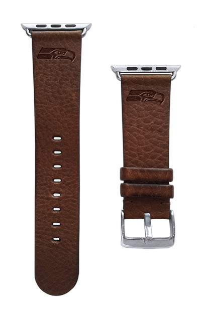 Seattle Seahawks Leather Apple Watch Band-AffinityBands