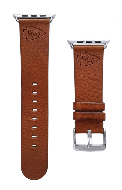Kansas City Chiefs Leather Apple Watch Band-AffinityBands