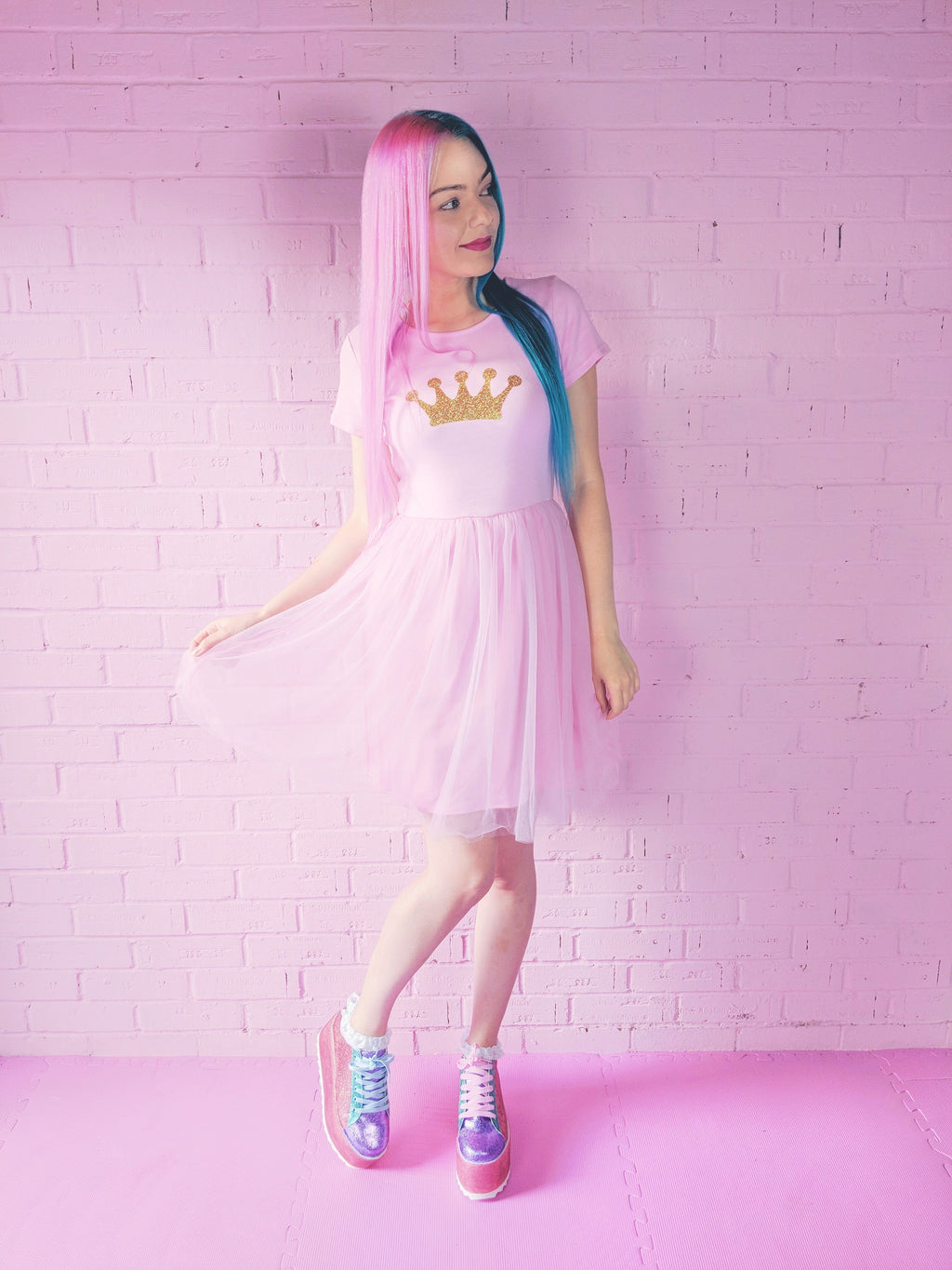 Pink Princess Crown Dress