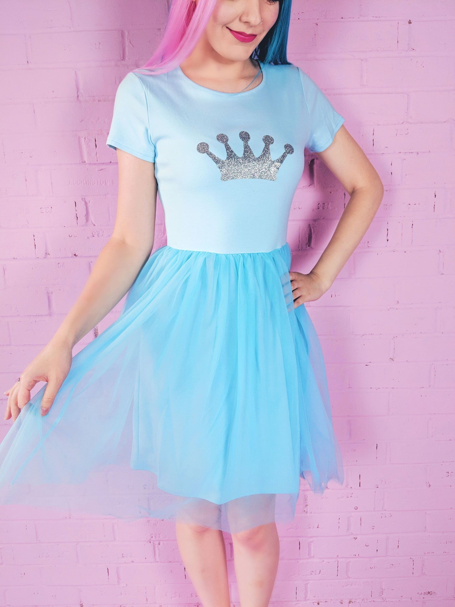Blue Princess Crown Dress