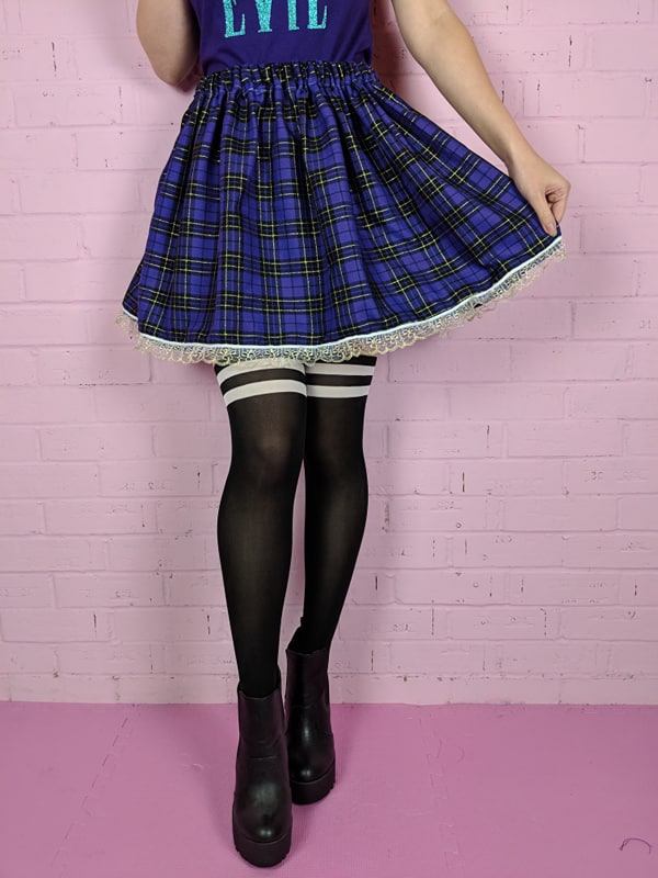 Villains Purple Tartan Skirt