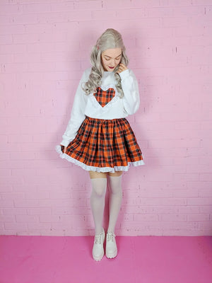Orange Tartan Skirt