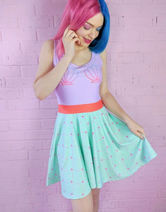Mermaid Princess Skater Dress