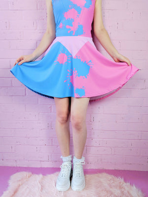 Make It Pink, Make It Blue Skater Dress