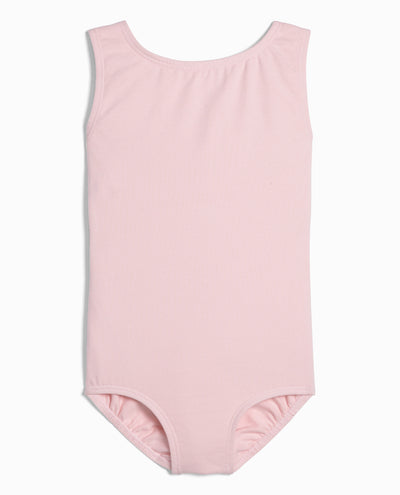 Girl's Cotton High Neck Tank Leotard