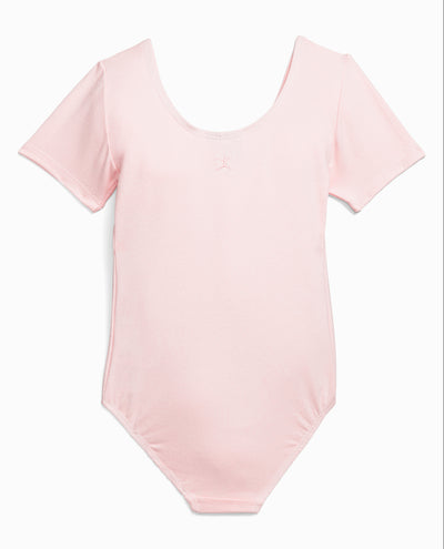 Girl's Cotton Short Sleeve Leotard