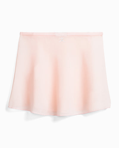 Girl's Snap-Front Sheer Wrap Skirt