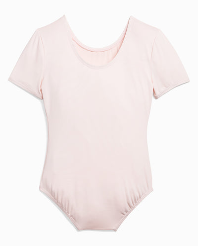 Girl's Nylon Short Sleeve Leotard