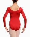 Scoopneck Long Sleeve Leotard