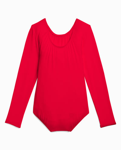 Girl's Nylon Long Sleeve Leotard