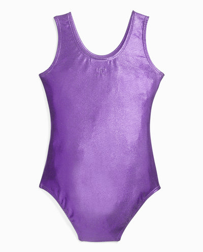 Girl's Foil Print Gymnastics Leotard