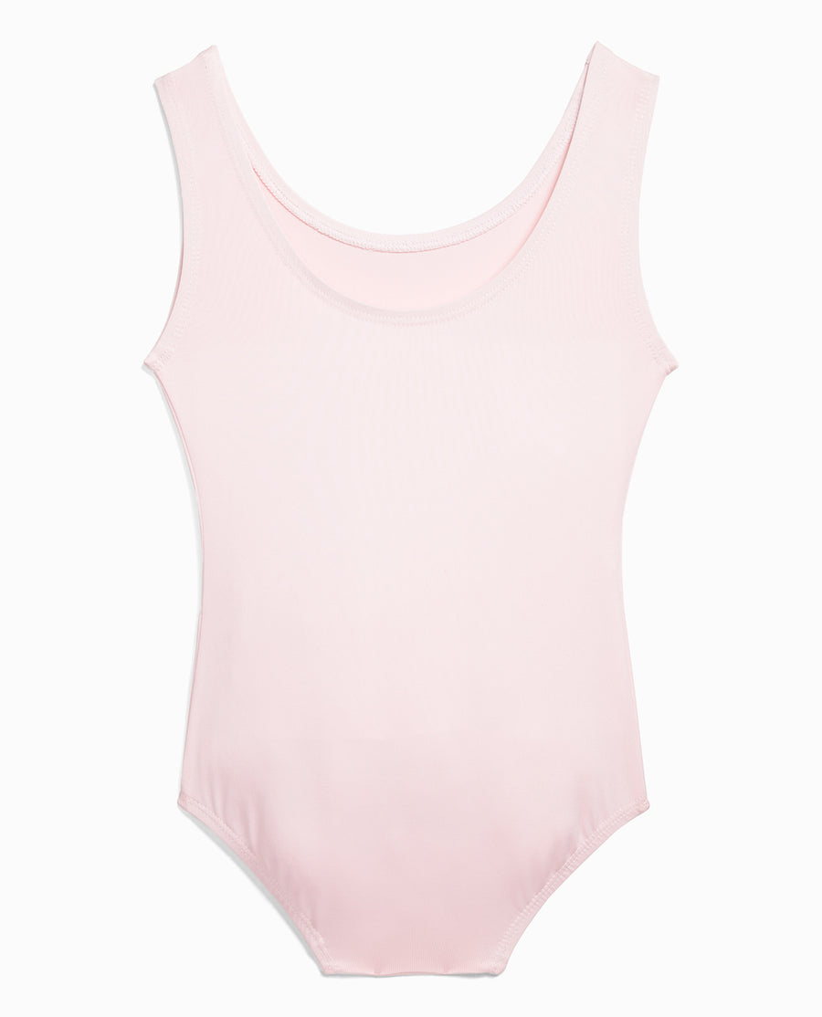 Girl's Nylon High Neck Tank Leotard