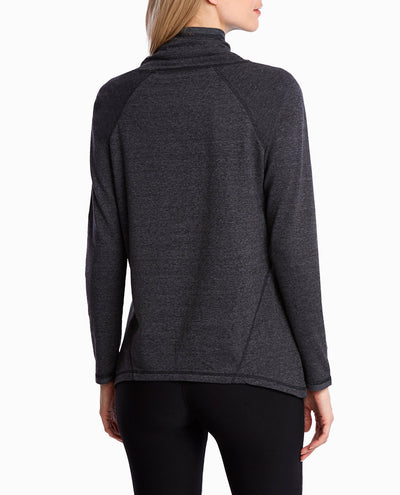 Convertible Funnel Neck Flared Pullover